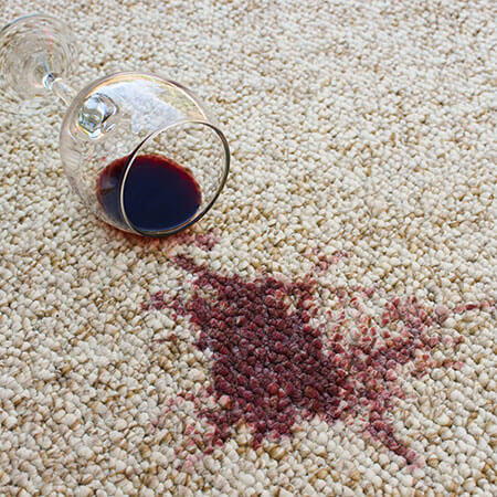Red wine stain on Carpet | Neils Floor Covering