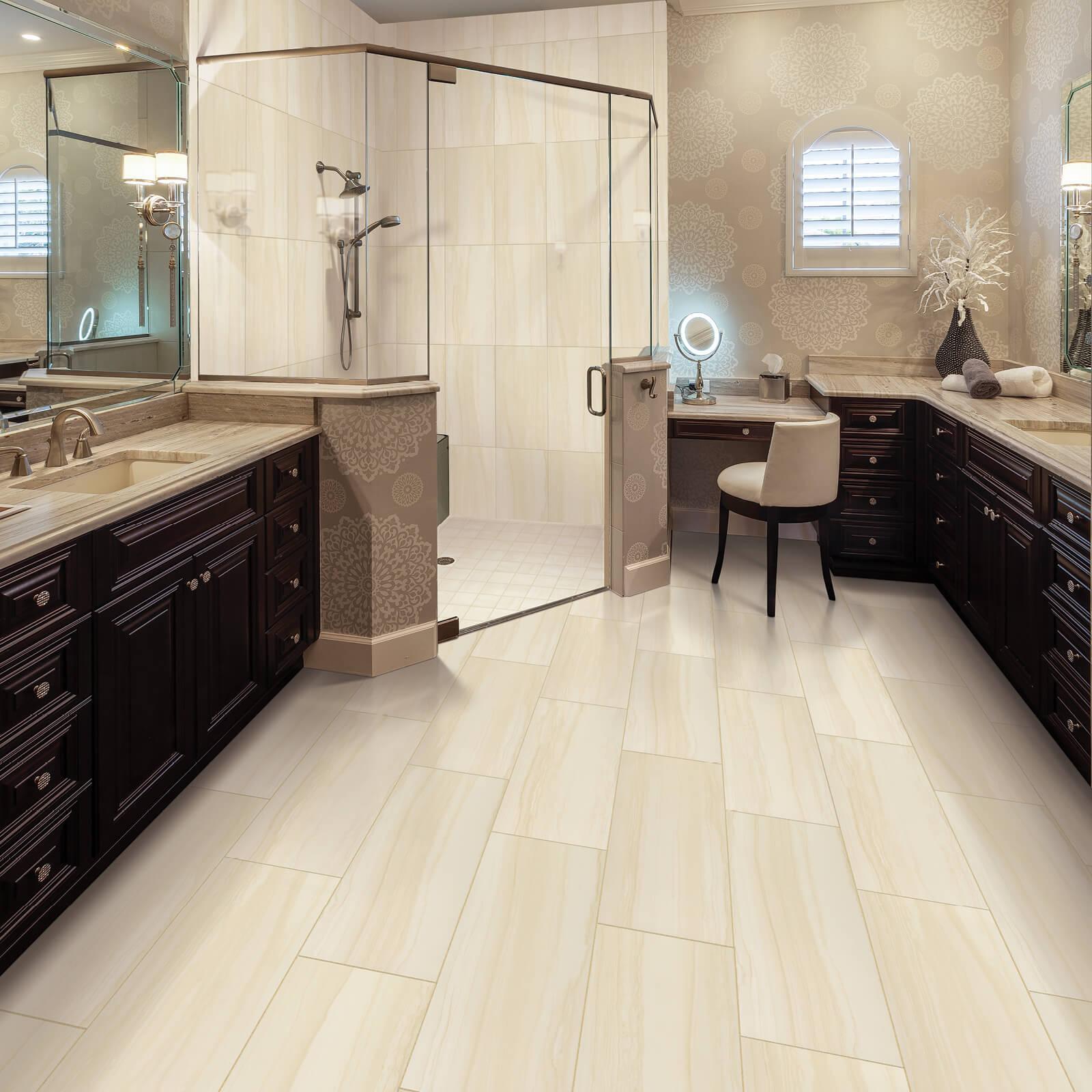 Tile in bathroom | Neils Floor Covering