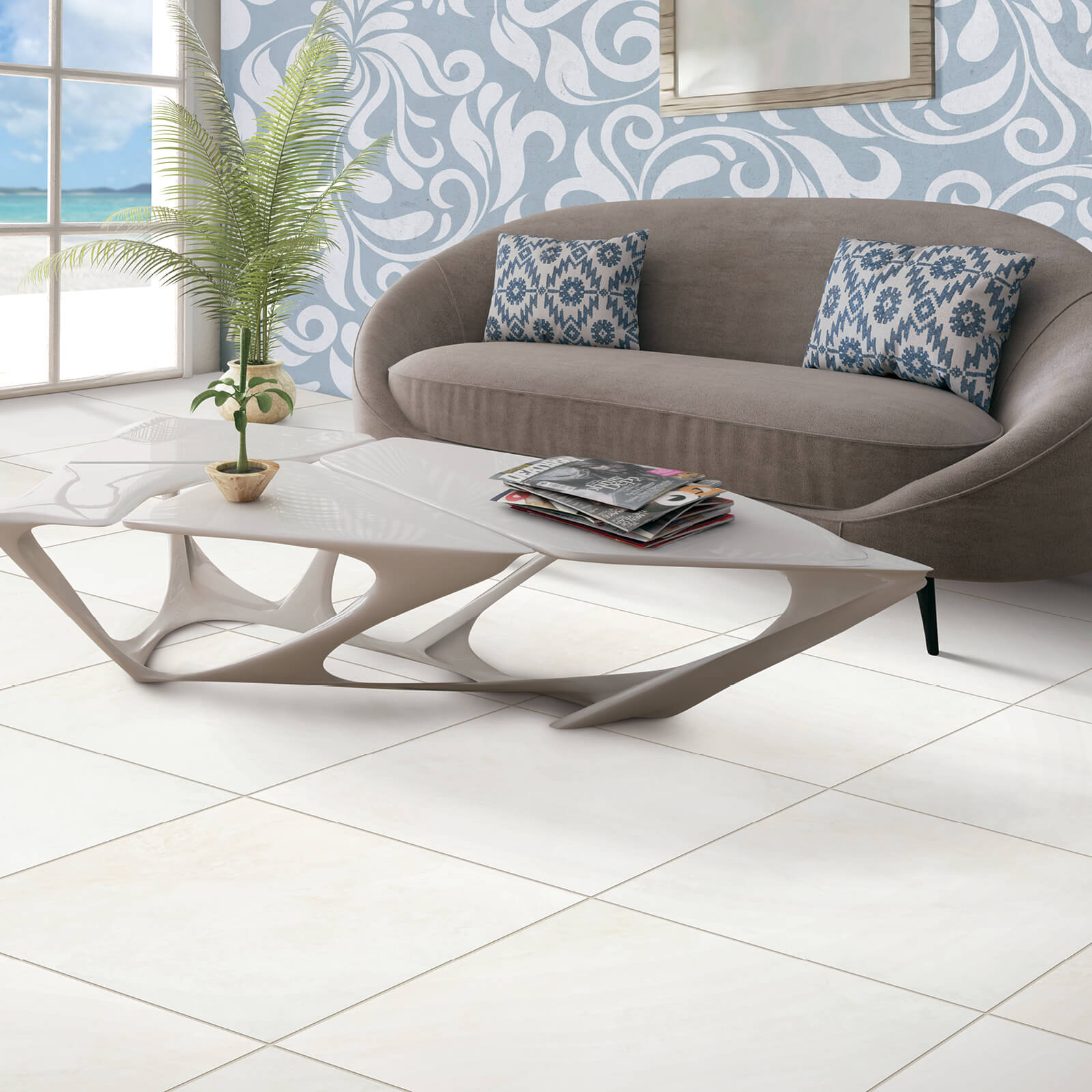 Tile in living room | Neils Floor Covering