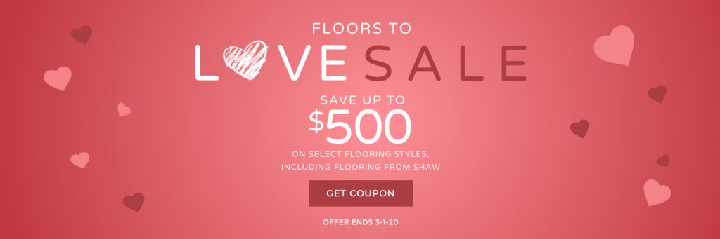 Love sale banner | Neils Floor Covering
