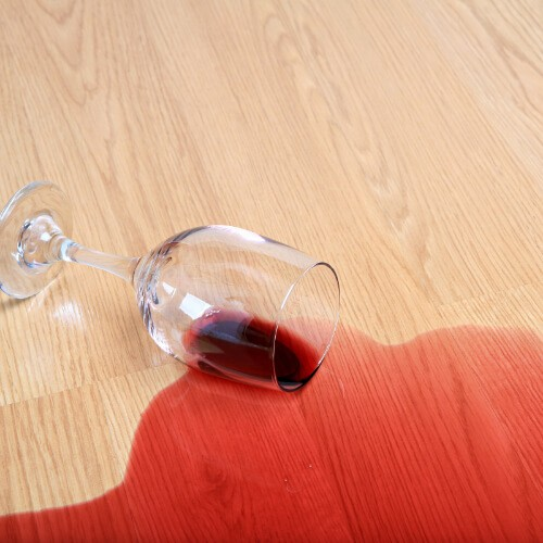 Red wine spill on Laminate flooring | Neils Floor Covering