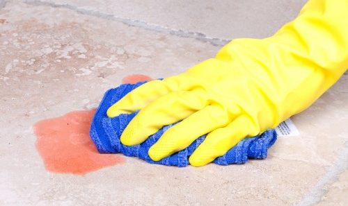 Cleaning spill on tile flooring | Neils Floor Covering