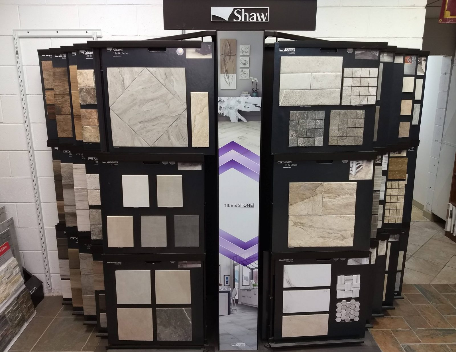 Variety of products in showroom | Neils Floor Covering