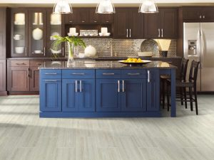 Blue cabinets | Neils Floor Covering